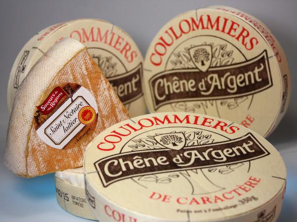 Französische Lebensmittel Chene d'Argent Käse