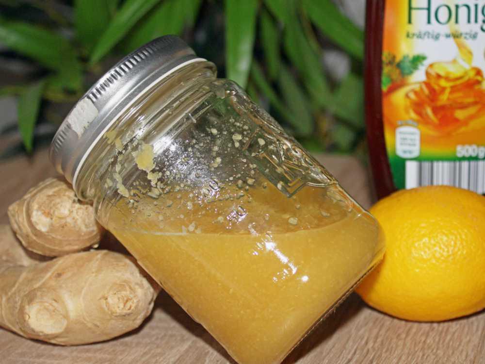 Ingwer Shot Rezept Zitrone und Honig