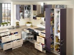 Jeder Platz in der Küche wird optimal ausgenutzt