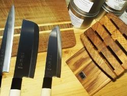 Messerblock aus echtem Eichholz