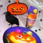 Schaurige Halloweenparty Tischdeko