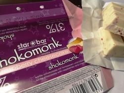 shokomonk Weiße Schokolade raspberry cheescake